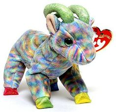 Ty Beanie Baby Zodiac Collection - The Goat Expensive Beanie Babies, Rare Beanie Babies, Ty Stuffed Animals, Plush Animals, Stuffed Toys, Beanie Baby Bears, Ty Beanie Boos, Baby Doll Nursery, Baby Dolls