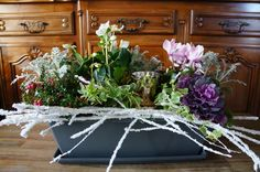 Tutoriel : Jardinière hivernale. Garden, flowers, green, DIY, christmas light