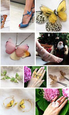 Custom Jewelry, Diy Jewelry, Jewelery, Jewelry Making, Butterfly Nail, Butterfly Jewelry, Diy Wedding Dress, Victorian Lace, Unusual Jewelry