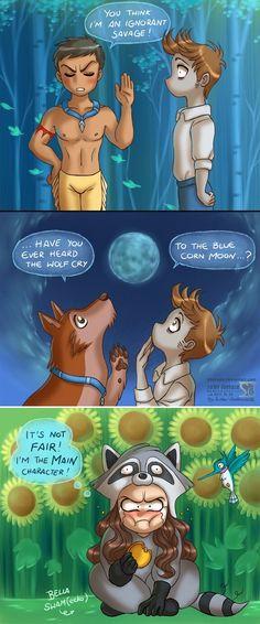 Twilight vs. Pocahontas (Drawing by Daekazu @deviantART) #Twilight #Pocahontas