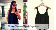 Blusa Cropped by Aliexpress. Confira mais fotos, opinião e link do vendedor no post.