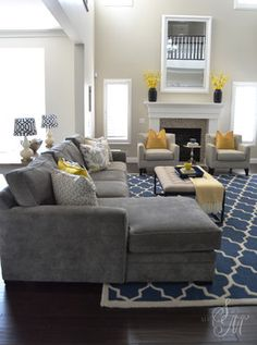 Sita Montgomery Interiors: Client Project Reveal: The Summerwood Project  Renovation, Gray Yellow Decor Design