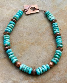 Campitos Turquoise and Copper Necklace by ElliottClaireJewelry, $110.00