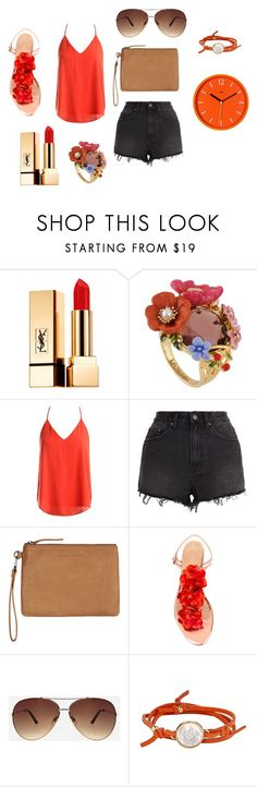 """""""orange"""" by neyvin ❤ liked on Polyvore featuring Yves Saint Laurent, Les Néréides, Sans Souci, Ksubi, Status Anxiety, Charlotte Olympia, Ashley Stewart, Asha by ADM and Wild & Wolf"""