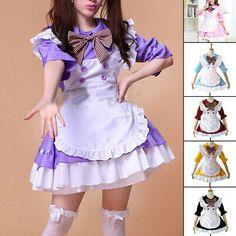 (Sponsored)eBay - Women Dresses Uniform French Maid Ladies Half Sleeve Halloween Fashion French Maid Dress, Maid Uniform, Halloween Fashion, Maids, Half Sleeves, Online Price, Ebay, Dresses, Women
