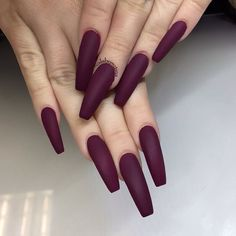 Matte Red Acrylic Nails Coffin as Matte Nail Polish With Eyeshadow only Grey Matte Acrylic Nails Coffin between Nail Care Salon Conyers Ga Burgundy Matte Nails, Red Stiletto Nails, Red Acrylic Nails, Red Nail Art, Coffin Nails Matte, Dark Nails, Acrylic Nail Designs, Matte Red, Pastel Nails