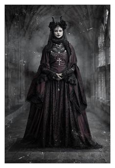 "wondrous-beauties: "" Morticia-Eve Photography:  Christian Anders Photograph "" #GothicFashion"