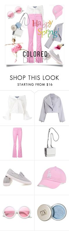 """""""Spring Trend: Colored Denim"""" by kari-c ❤ liked on Polyvore featuring Jacquemus, Zimmermann, Givenchy, Kendall + Kylie, '47 Brand, ZeroUV and coloredjeans"""
