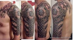 Irish Celtic Tattoo | Armor | Shoulder | Cross | Knot Work