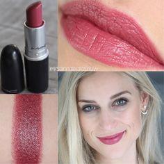 MAC Lipstick - Craving 💕💕 - more_make_up_pintennium Mac Lipsticks, Mac Lipstick Colors, Mac Lipstick Swatches, Dark Lipstick, Makeup Swatches, Lipstick Shades, Peach Lipstick, Mac Makeup Looks, Best Mac Makeup