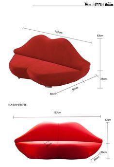 Source Red Lip Shaped Fancy Bocca Sofa on m.alibaba.com Leather Sofa, Red Leather, Lips Sofa, Metal Sofa, Luxury Bedroom Design, Lip Shapes, Buy Sofa, Modern Sofa, Fabric Sofa