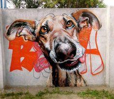 Street Art by Sebastian Waknine ♥•♥•♥