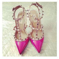 zapatos rosa Mexicano (o vivascious)  valentino rosa y nude rockstar glam