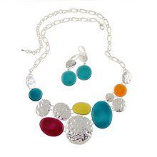 Calidad superior de moda collares para para 2015 pendientes de la joyería fija el collar y pendientes Set azul y amarillo colgantes del…