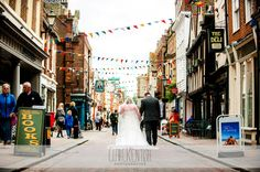Bride & Groom Rochester High Street after Wedding @ Rochester Guildhall Museum – Wedding Photography by Clare Kentish Photographer, Rayleigh, Essex