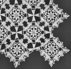 Motif Tablecloth Vintage Crochet Pattern for download