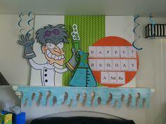 Magalie Sarnataro props Mad Science birthday party decor Mad Science, Birthday Party Decorations, Happy, Ms, Fictional Characters, Ser Feliz, Fantasy Characters, Birthday Decorations, Being Happy