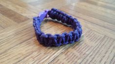 purple paracord bracelet by by Karenskreations2011 on Etsy, $5.00