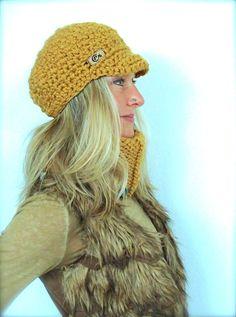 9fc224fb196 SLOUCHY hat warm Visor beanie crochet Slouch Brimmed hat Bohemian Boho hat  Hippie Beanie with brim urban winter hat GPyoga
