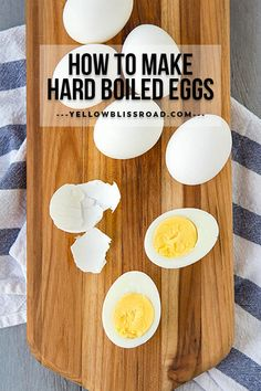 Learn how to make hard boiled eggs in just a few simple steps. Get those perfectly firm whites and creamy yellow centers every time you boil eggs! Making Hard Boiled Eggs, Perfect Hard Boiled Eggs, Perfect Eggs, Best Egg Recipes, Favorite Recipes, Healthy Protein Snacks, Healthy Foods, Easter Deviled Eggs, Healthy Pasta Dishes