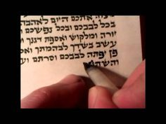 Writing a mezuzah. The whole process. Milkyroad. כתיבת מזוזה