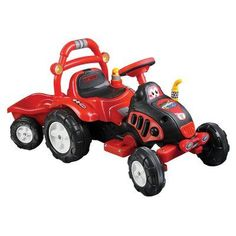 96 best wheels for kids images ride on toys, kids ride on, powerlil rider the king tractor \u0026 trailer battery powered riding toy 80 kb6038,