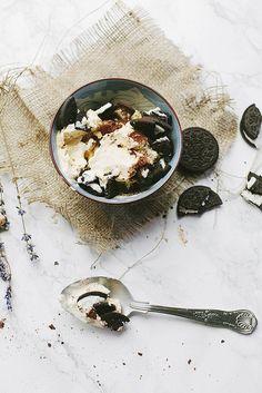 Oreo Cocoa Ice Cream.
