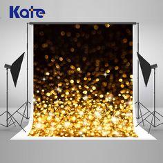 5x7ft Kate Golden Bright Spot Photography Backdrops Bling Bling Black Wedding Backdrops for Children Party Photo Backgrounds