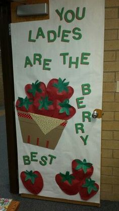 Office door for teacher appreciation week.  We really do have the best secretaries.