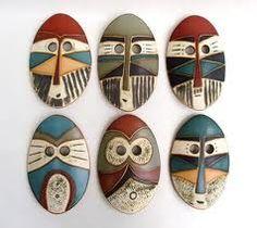 mascaras africanas de cartón para niños