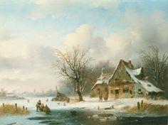 Jacobus van der Stok - IJsgezicht met koek-en-zopie