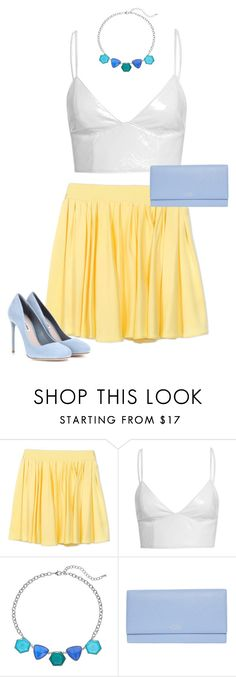"""""""Untitled #56"""" by rosemarylopez-1 ❤ liked on Polyvore featuring FAUSTO PUGLISI, Smythson and Miu Miu"""