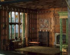 English Bedchamber of the Jacobean or Stuart Period, 1603-1688 - Thorne Miniature Collection - Art Institute of Chicago