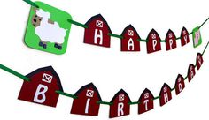 Farm themed Birthday Banner by IKnowAGuyDesigns on Etsy