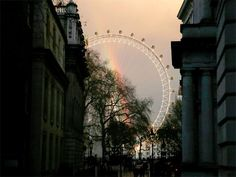 Day in pics : Rainbow seen through London Eye - December 9, 2015 - The Economic Times