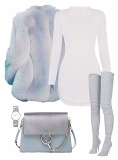 Love this look fashion coat boots handbag and sweater dress Swag Outfits, Mode Outfits, Classy Outfits, Stylish Outfits, Winter Outfits, Fashion Outfits, Womens Fashion, Fashion Trends, Fashion Ideas