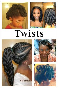 Natural hairstyles, I'm in love with twist right now.
