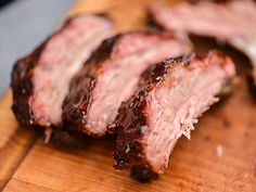 These may look like everyday ribs, but balsamic vinegar makes a pronounced difference, thanks to a distinctive tang that melds well with the sugars and multiple peppers in the rub.