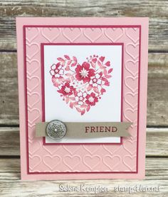 Create with Selene: January Card Class ~ Featuring the Stampin' Up! Bloomin Love Stamp Set, In Person, and To Go