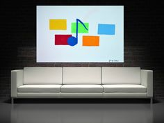 minimalist music note Painting Abstract Painting by JerryTitanArt