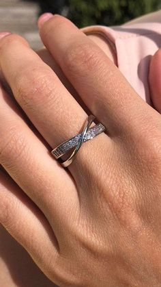 Boho Jewelry, Jewelry Rings, Eternity Ring Diamond, Rings Online, Ring Earrings, Wedding Season, Criss Cross, Silver Rings, White Gold