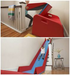 SlideRider // turns your stairs into an indoor slide! I don't care how old I am - I want this! #product_design
