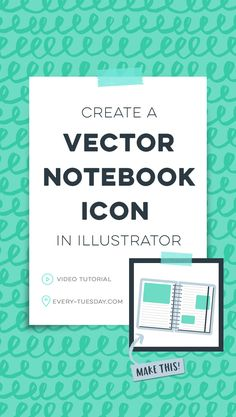 Create a cute vector notebook icon in Adobe Illustrator in this week's video tutorial, perfect for Illustrator beginners! Illustrator Video, Adobe Illustrator Tutorials, Graphic Design Software, Graphic Design Trends, How To Make Icons, Blend Tool, Coffee Icon, Tool Design, Design Process