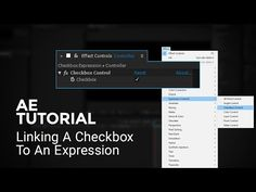 Checkbox Expression Link - After Effects Tutorial - YouTube