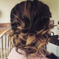 """Emily Holland on Instagram: """"I love ombré hair color with an updo, it really brings out the style! #hairandmakeupbyemily #bridalhair #ombre @modernsalon @kenra @fiercesociety @btcmag @beautylaunchpad"""