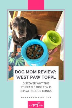 With all the different ways to use the West Paw Toppl – from freezing, to puzzles and even a bully stick holder – I love making it a part of my regular routine with my dogs. Plus, the two sizes make it so versatile! As an informed dog mom consumer, I always make sure that the toys I buy are non-toxic and from companies who care about pets. I love that the Toppl is made with zero-waste and recyclable Zogoflex material in Bozeman, Montana. West Paw even has a toy recycling program! Black Lab Mix, Black Labs, Brain Games For Dogs, Bully Sticks, Chocolate Labs, Labrador Retrievers, Boredom Busters, Find Pets, Zero Waste