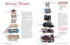"Emma Parker from Stitch Therapy is using her love and understanding of art to help others deal with difficult stages of as brokenness, abandonment, and those who have been forgotten. Her work, titled ""Memory Threads,"" is a stunning exploration of how art can heal"