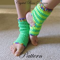 CROCHET PATTERN Yoga Socks Tutorial Ladies by CrystalBearDesigns