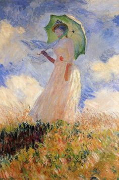 Woman with a parasol 1886  Cloude Monet   #Art #Painting