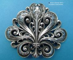 Museum quality Art Nouveau silver buckle by Gorham, circa 1900.   Nearly flawless design, execution and condition.